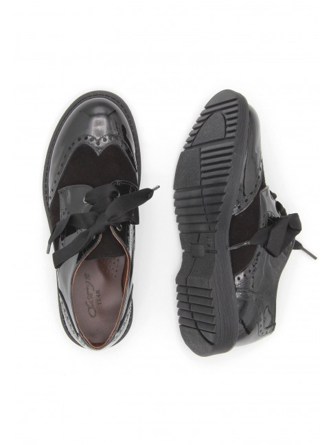 5791 BLACK COMBINED SHOES