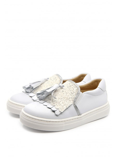 3834 GLITTER FRINGED SNEAKERS