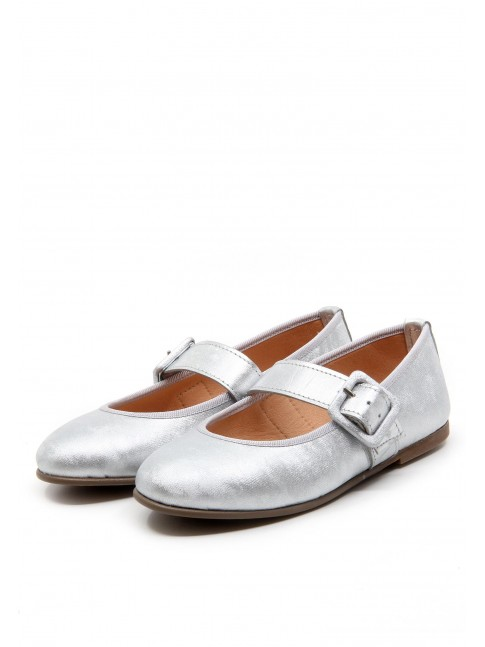 4661 SILVER LEATHER MARY JANE