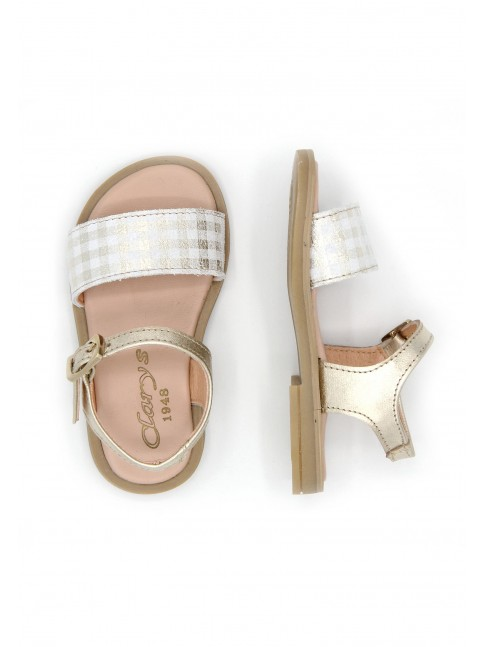 6126 CHECKERED PATTERN BABY SANDALS