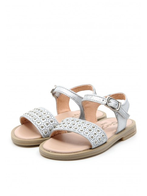 6129 SILVER BABY SANDALS