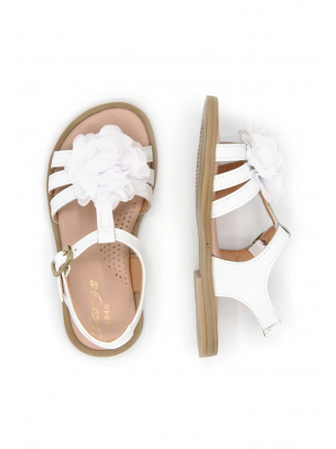 6130 BABY SANDALS WITH FLOWER