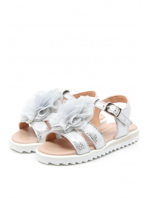 6179 SILVER LEATHER SANDALS