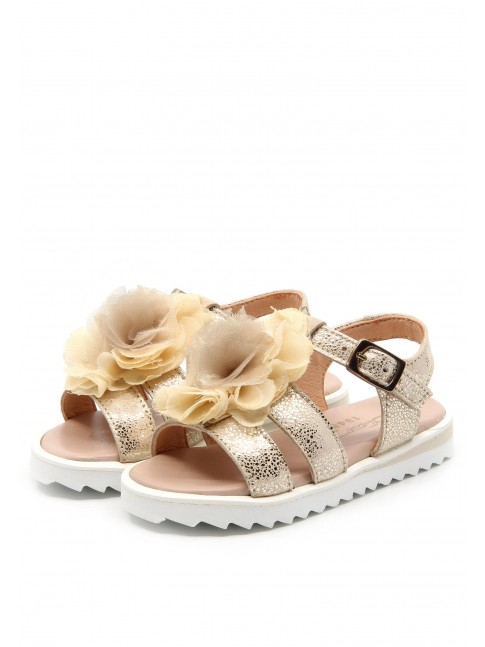 6179 GOLDEN LEATHER SANDALS