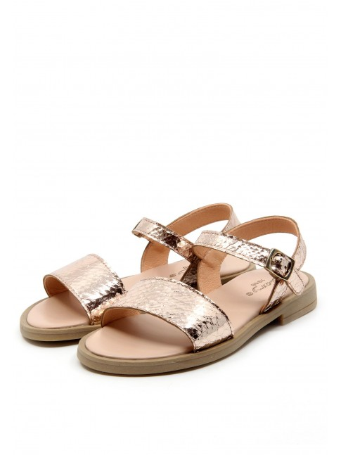 6494 MAGNESIUM LEATHER SANDALS