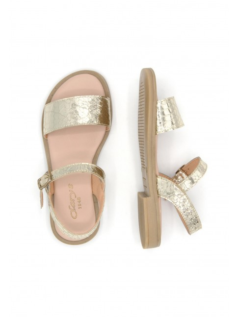 6494 GOLDEN LEATHER SANDALS