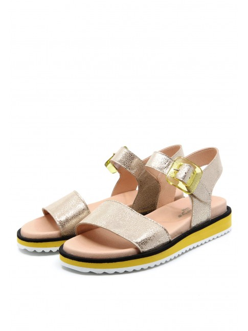 6583 GOLDEN LEATHER SANDALS