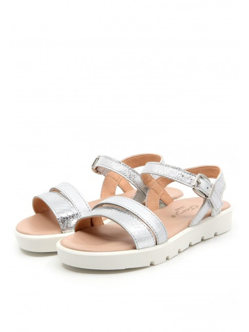 6658 SILVER METALIZED SANDALS