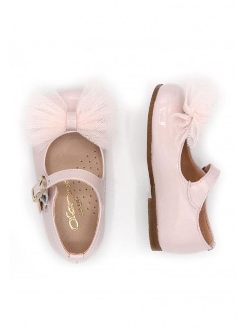 1170 BABY PINK MARY JANES WITH BOW