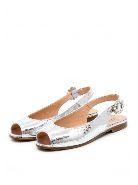 4527 SILVER COMMUNION MARY JANES