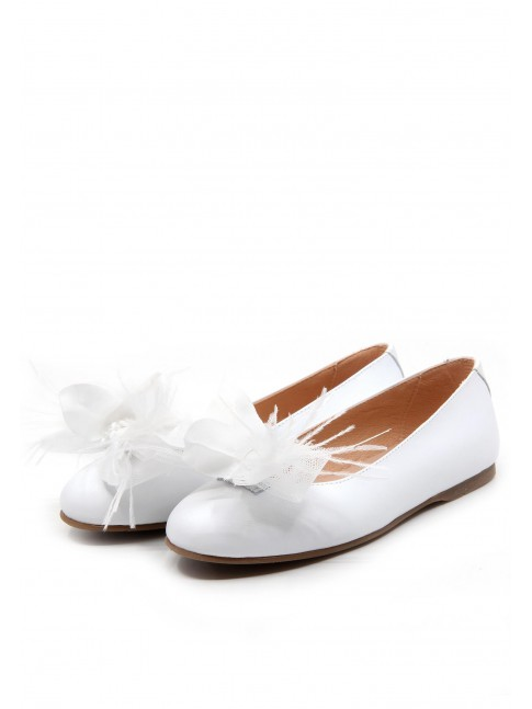 4763 COMMUNION BALLERINAS WITH BOW