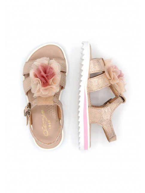 6179 MAGNESIUM WILMA LEATHER SANDALS