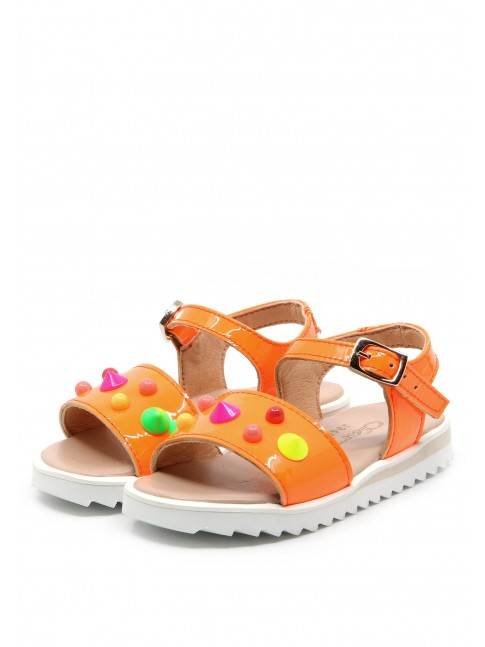6177 NEON PATENT BABY SANDALS