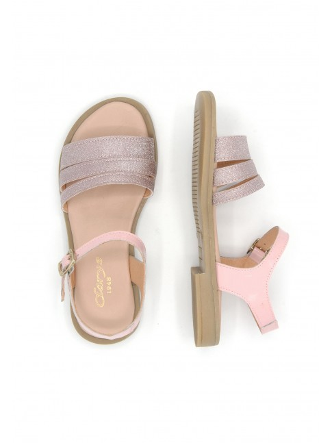 6495 PINK LEATHER SANDALS