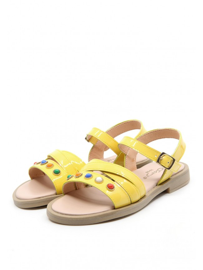 6496 PEARLS LEATHER SANDALS