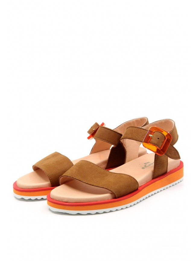 6583 BROWN LEATHER SANDALS