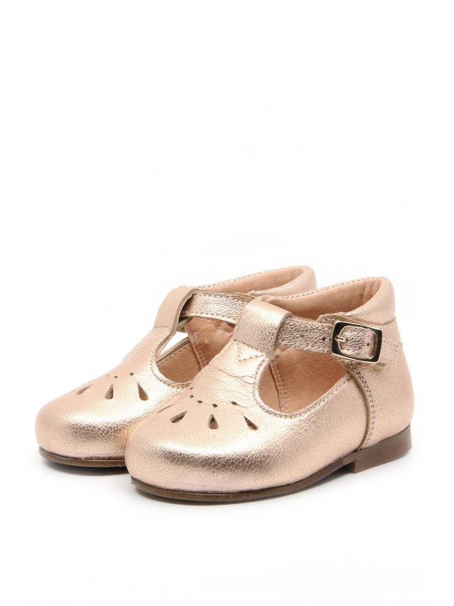 1891 BRONZE LEATHER BABY SHOES