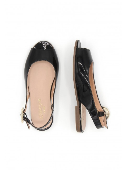 4530 BLACK PATENT MARY JANES