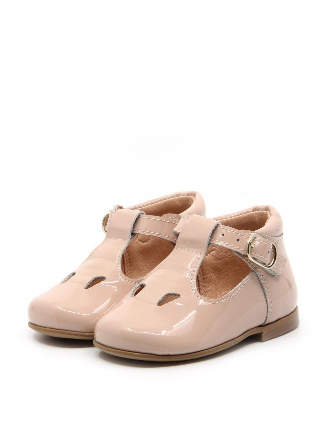 1884 PINK PATENT BABY SHOES