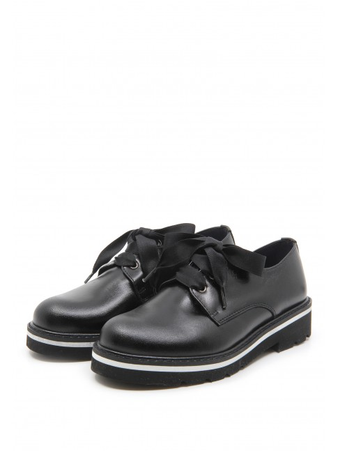 5949 BLACK LEATHER SPORT SHOES