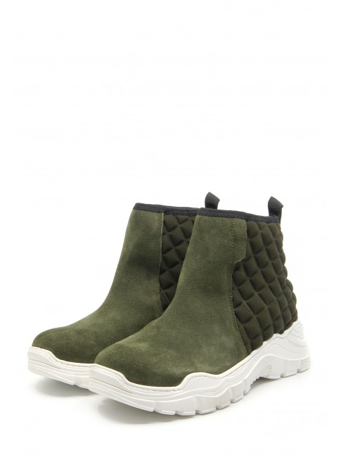 9081 GREEN LEATHER SPORT BOOTIES